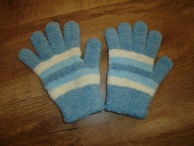 Теплые флисовые перчатки 8-10 лет длина 20, средний палец 6,5, болван 5 см 50 грн