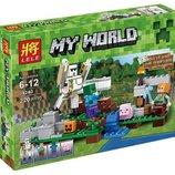 Конструктор Lele 79280 Железный Голем. майнкрафт аналог lego minecraft 21123