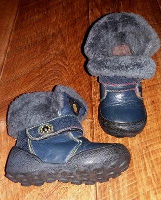 Кожа с цегейкой, зимние сапожки, ботинки, стелька 13,5 см, как новые