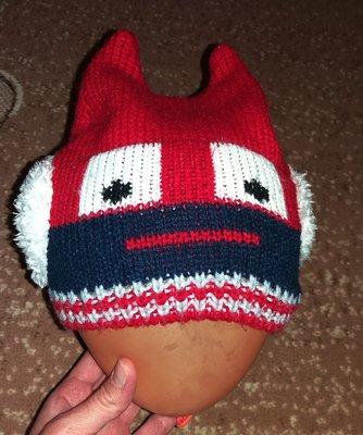 Веселая шапка H&M, 1-2 г