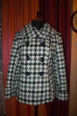 Продано: Пальто короткое, полупальто гусиная лапка р. 48-50