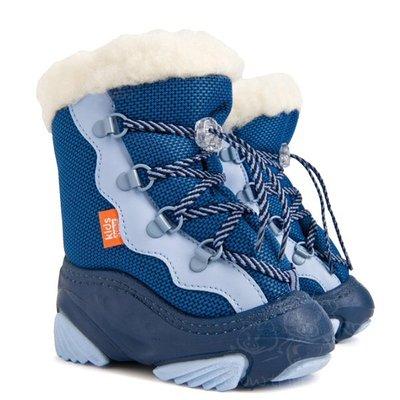 Очень теплые и легкие Сноубутсы /дутики Польша DEMAR.SNOW MAR синий c 20-27р.