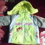 Теплая куртка с человеком-пауком 2-3,5года