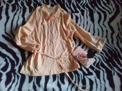Романтичная блуза персикового цвета, новая