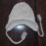Теплая двойная белая шапка Soul Cal на девочку от 7 до 16 лет