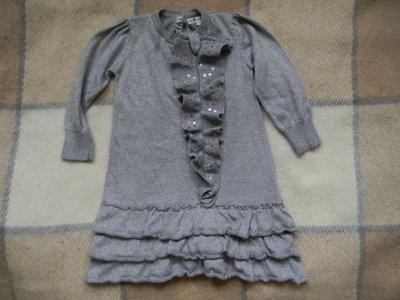 трикотажное платье, свитер, туника M&S на 2-3 года