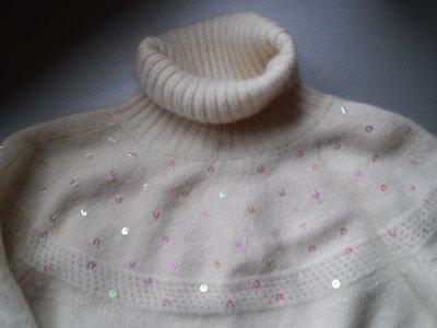 Настоящий ангоровый белоснежный свитер нарядный оверсайз Kaliko