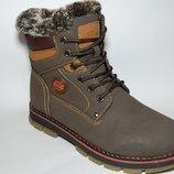 Ботинки зимние на меху на мальчика кофейно-коричнневые, DP5211-3, Тм Paliament , размеры 36, 37, 3
