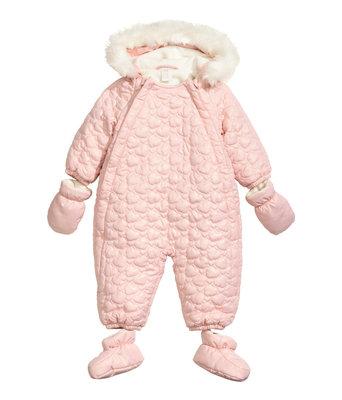 Зимний комбинезон для девочки от H&M 2-4м