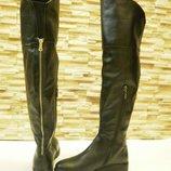 Ботфорты сапоги зимние кожаные 36-40р Новая коллекция