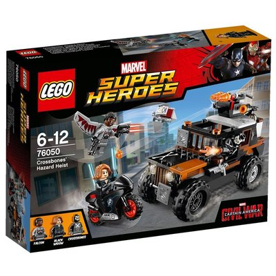 LEGO Super Heroes Погоня за Кроссбоунсом Crossbones Hazard Heist 76050