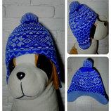 Зимняя шапка ушанка в орнамент