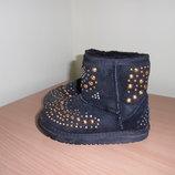 Обувь Зимняя 20 см угги теплые зима JIMMI CHOO черные UGG УГГ теплые зима золотые оригинал