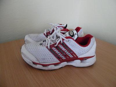 кроссовки 24,5 См. фирменные сетка белые красные Adidas Адидас CLIMA COOL