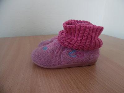 тапки розовые теплые девочке 15,3 см рр Lupilu Люпилю теплые очень