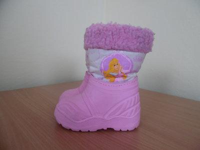 Сапоги резиновые 24-25 рр 15,5 см как новые Disney Дисней розовые принцесса