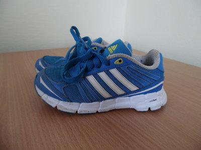Кроссовки 19,6 см мокасины кожаные голубые оригинал Adidas Адидас