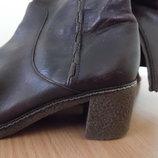 сапоги кожаные 24 см коричневые оригинал кларкс высокие Clarks Кларкс