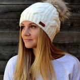 Женская шапка зима Джульетта Натуральный енот на флисе. р. 54-57 см. разные цвета