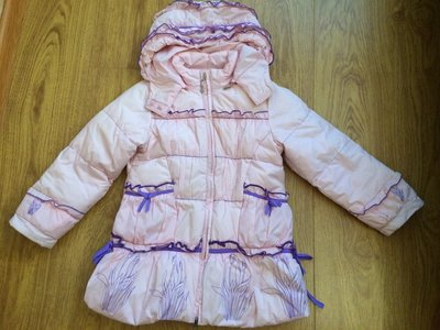 Зимний пуховик пальто на девочку 4-6лет