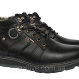 Мужские кожаные зимние ботинки Kristan Black