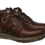 Мужские кожаные зимние ботинки модель 18