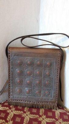 Сумка планшетка кожаная этно-стиль