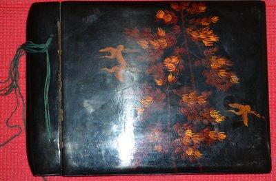 старинный большой альбом дерево лак покрытие новый раритет