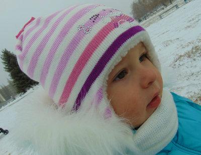 Зимний комплект шапка шарф бу Польша