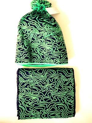 Шапка зимняя с начесом шарф