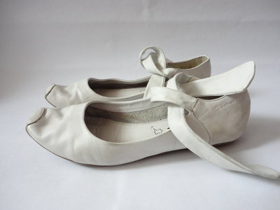 Белые кожаные туфли стелька 23,5см р.37