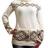Модный свитер со скандинавским рисунком
