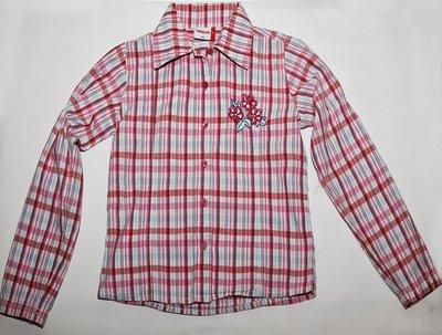 Рубашка в клетку Yigga с вышивкой, р. 134