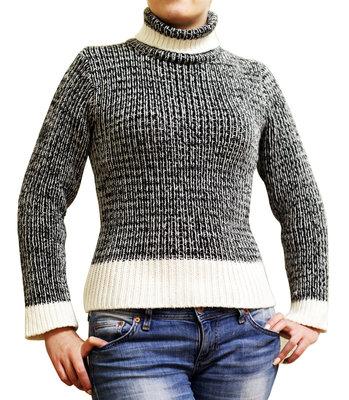 Тёплый зимний свитер р.40-12-L
