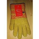 Детские вязаные перчатки для девочек 6-10 лет