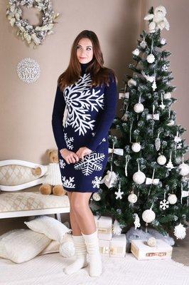 Вязаное платье Снежинка
