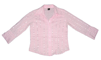 Розовая блуза в полоску р.44 М