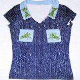 Синяя футболка YAX р.44 S