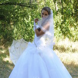 Срочно Белоснежное свадебное платье Торг