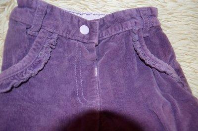 Фиолетовые вельветовые штанишки на годик-полтора