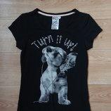 Бронь Снизила цену Классная черная футболка с собачкой XS - размер