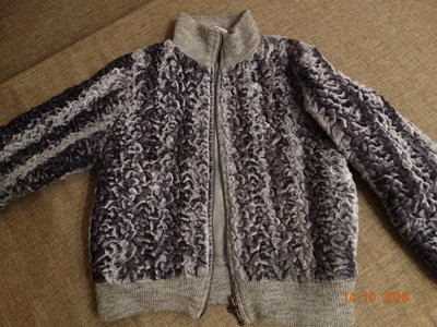 Куртка под каракуль для девочки