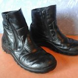 зимние кожаные ботинки - сапоги
