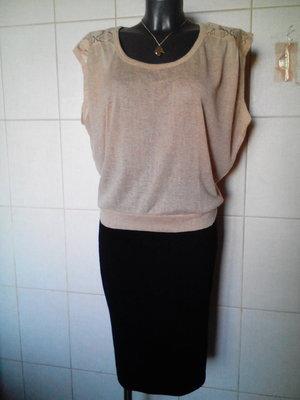 легкая свободная блуза Kukla mou,с ажурными деталями,на р-ры M/L