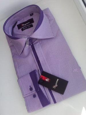 Супер-Цена Рубашки для больших и маленьких мужчин Приталенные рубашки и прямого кроя, S-3xl,39-44