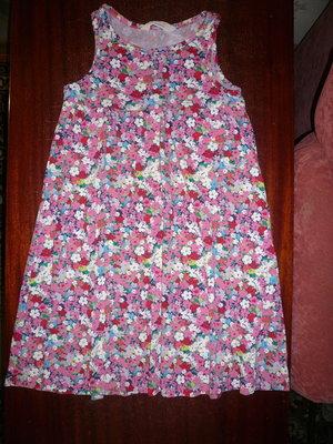 Платье сарафан летнее цветастое 6-8 лет Нм
