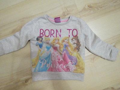 свитерок, свитшот Disney с принцессами 18-24мес