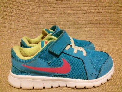 Легчайшие ярко-голубые комбинированные синтетические кроссовки Nike 30