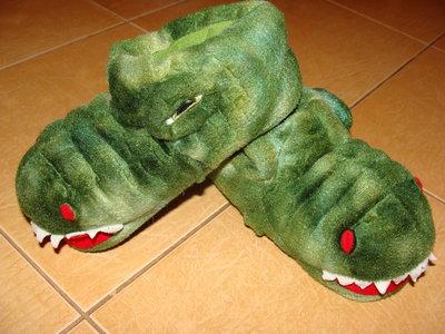 Прикольные тапки-динозавры, стелька 19 см