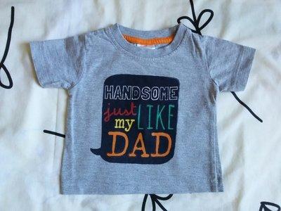Крутая футболка с надписью от Baby на 3-6 мес., 62-68 см